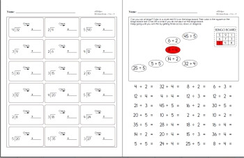 Division facts worksheets for 4th grade