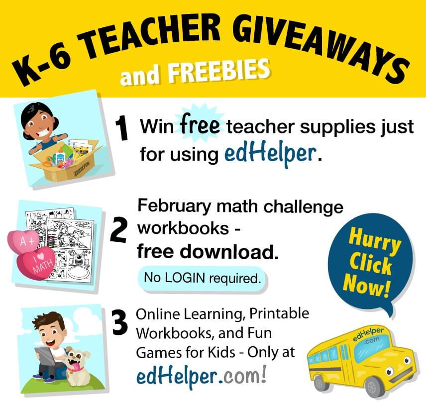 K-6 Teacher Giveaways and FREEBIES