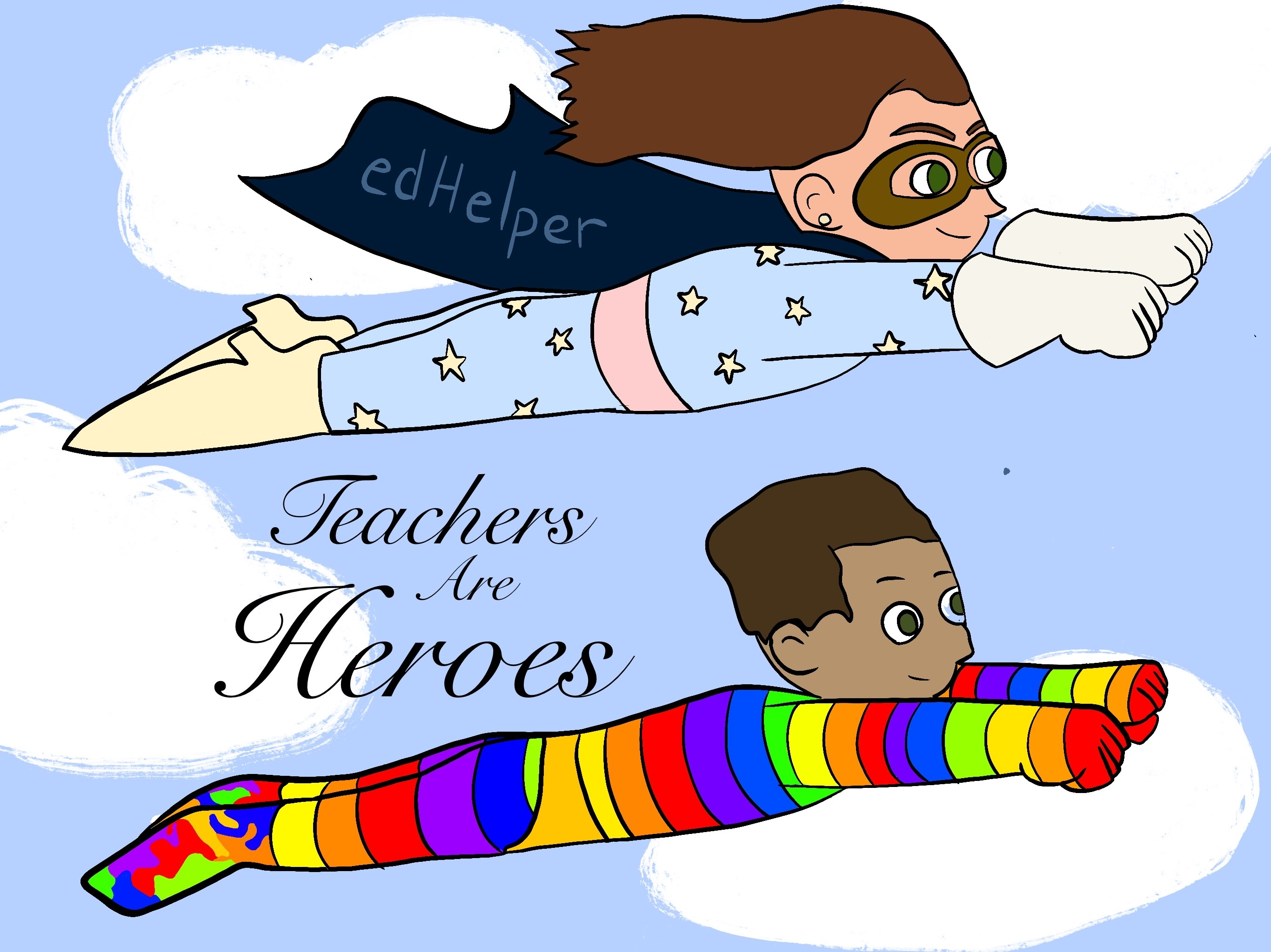 Teachers are Heroes (with Free Posters)