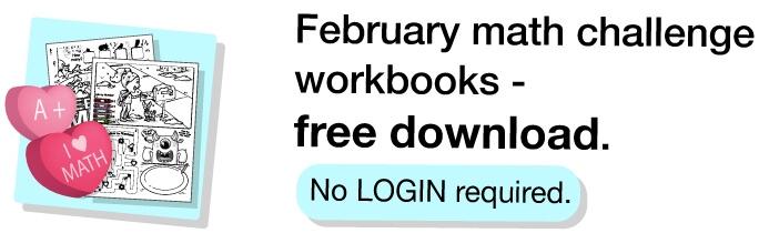 Teacher Freebies February Math Challenge Workbooks