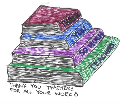Thank you note for Teacher