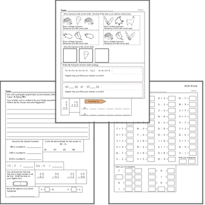 Free L.1.1.H Practice Workbook<BR>Multiple pages of practice for L.1.1.H skills.<BR>Includes first grade language arts, math, and puzzles.