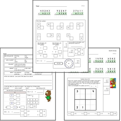 Free L.1.2.A Practice Workbook<BR>Multiple pages of practice for L.1.2.A skills.<BR>Includes first grade language arts, math, and puzzles.