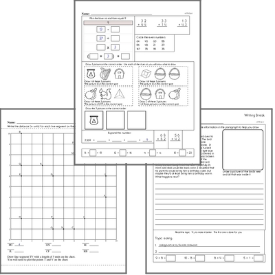 Free L.1.2.C Practice Workbook<BR>Multiple pages of practice for L.1.2.C skills.<BR>Includes first grade language arts, math, and puzzles.