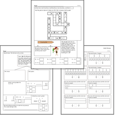 Free L.1.4.A Practice Workbook<BR>Multiple pages of practice for L.1.4.A skills.<BR>Includes first grade language arts, math, and puzzles.