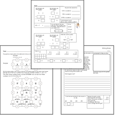 Free L.1.4.B Practice Workbook<BR>Multiple pages of practice for L.1.4.B skills.<BR>Includes first grade language arts, math, and puzzles.