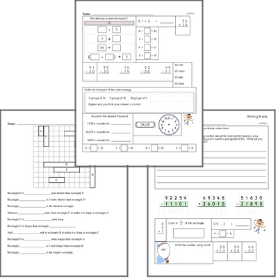 Free L.1.4.C Practice Workbook<BR>Multiple pages of practice for L.1.4.C skills.<BR>Includes first grade language arts, math, and puzzles.