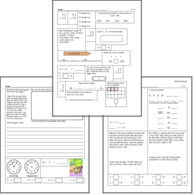Free L.1.5 Practice Workbook<BR>Multiple pages of practice for L.1.5 skills.<BR>Includes first grade language arts, math, and puzzles.