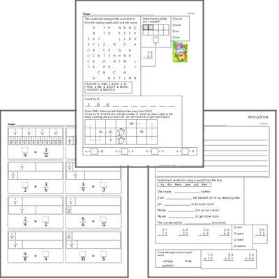 Free L.1.5.B Practice Workbook<BR>Multiple pages of practice for L.1.5.B skills.<BR>Includes first grade language arts, math, and puzzles.