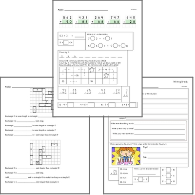 Free L.1.5.D Practice Workbook<BR>Multiple pages of practice for L.1.5.D skills.<BR>Includes first grade language arts, math, and puzzles.