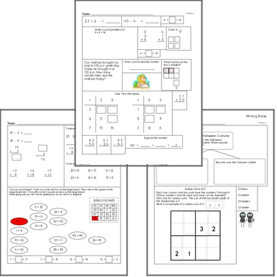 Free L.2.1.C Practice Workbook<BR>Multiple pages of practice for L.2.1.C skills.<BR>Includes second grade language arts, math, and puzzles.