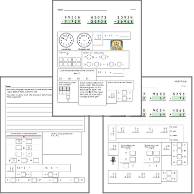 Free L.2.1.D Practice Workbook<BR>Multiple pages of practice for L.2.1.D skills.<BR>Includes second grade language arts, math, and puzzles.
