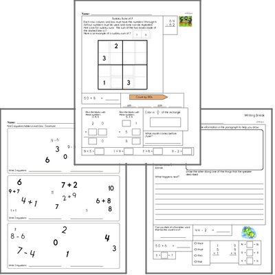 Free L.2.1.F Practice Workbook<BR>Multiple pages of practice for L.2.1.F skills.<BR>Includes second grade language arts, math, and puzzles.
