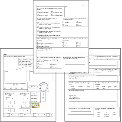 Free L.2.2 Practice Workbook<BR>Multiple pages of practice for L.2.2 skills.<BR>Includes second grade language arts, math, and puzzles.