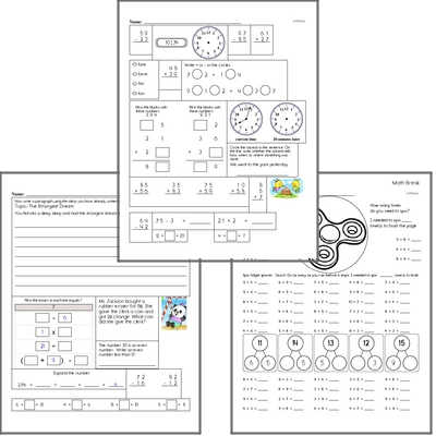 Free L.2.2.A Practice Workbook<BR>Multiple pages of practice for L.2.2.A skills.<BR>Includes second grade language arts, math, and puzzles.