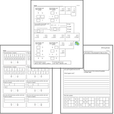 Free L.2.2.B Practice Workbook<BR>Multiple pages of practice for L.2.2.B skills.<BR>Includes second grade language arts, math, and puzzles.