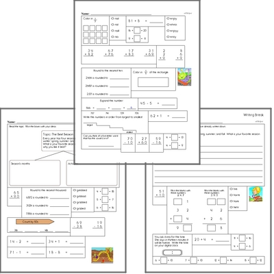 Free L.2.2.E Practice Workbook<BR>Multiple pages of practice for L.2.2.E skills.<BR>Includes second grade language arts, math, and puzzles.