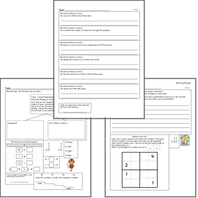 Free L.2.3 Practice Workbook<BR>Multiple pages of practice for L.2.3 skills.<BR>Includes second grade language arts, math, and puzzles.