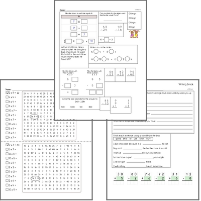 Free L.2.3.A Practice Workbook<BR>Multiple pages of practice for L.2.3.A skills.<BR>Includes second grade language arts, math, and puzzles.