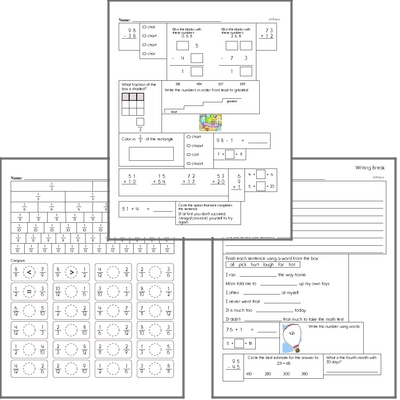 Free L.2.4.A Practice Workbook<BR>Multiple pages of practice for L.2.4.A skills.<BR>Includes second grade language arts, math, and puzzles.
