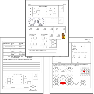 Free L.2.4.B Practice Workbook<BR>Multiple pages of practice for L.2.4.B skills.<BR>Includes second grade language arts, math, and puzzles.