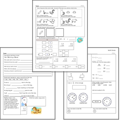 Free L.2.4.C Practice Workbook<BR>Multiple pages of practice for L.2.4.C skills.<BR>Includes second grade language arts, math, and puzzles.