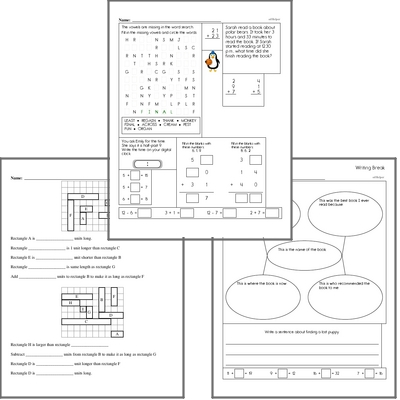 Free L.2.4.E Practice Workbook<BR>Multiple pages of practice for L.2.4.E skills.<BR>Includes second grade language arts, math, and puzzles.
