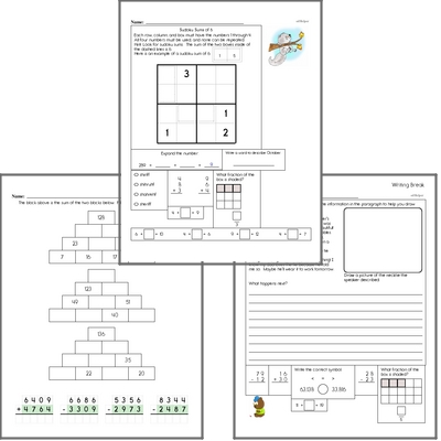Free L.2.5.A Practice Workbook<BR>Multiple pages of practice for L.2.5.A skills.<BR>Includes second grade language arts, math, and puzzles.