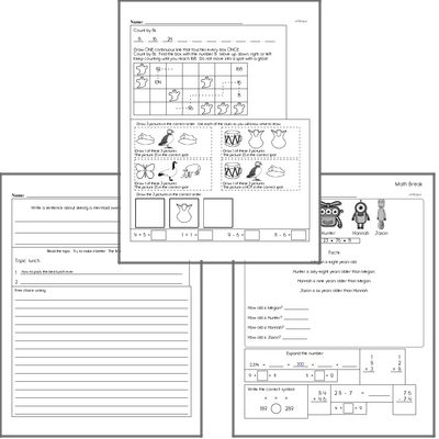 Free L.2.6 Practice Workbook<BR>Multiple pages of practice for L.2.6 skills.<BR>Includes second grade language arts, math, and puzzles.