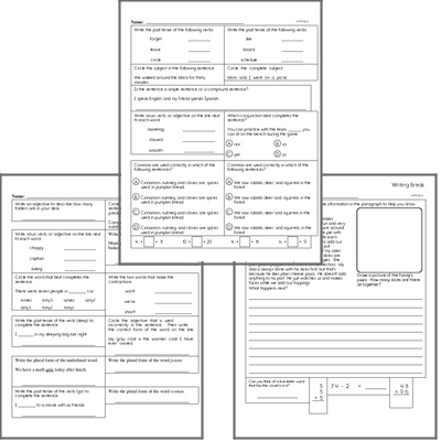 Free L.3.1 Practice Workbook<BR>Multiple pages of practice for L.3.1 skills.<BR>Includes third grade language arts, math, and puzzles.