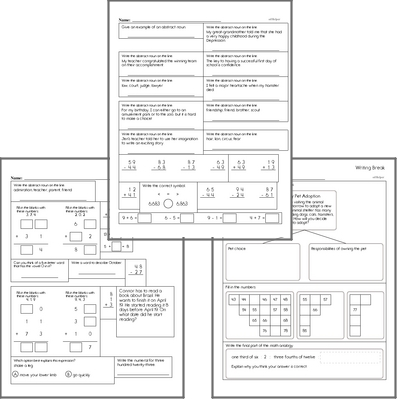 Free L.3.1.C Practice Workbook<BR>Multiple pages of practice for L.3.1.C skills.<BR>Includes third grade language arts, math, and puzzles.