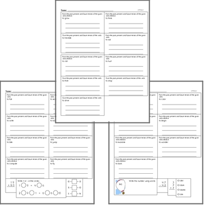 Free L.3.1.E Practice Workbook<BR>Multiple pages of practice for L.3.1.E skills.<BR>Includes third grade language arts, math, and puzzles.