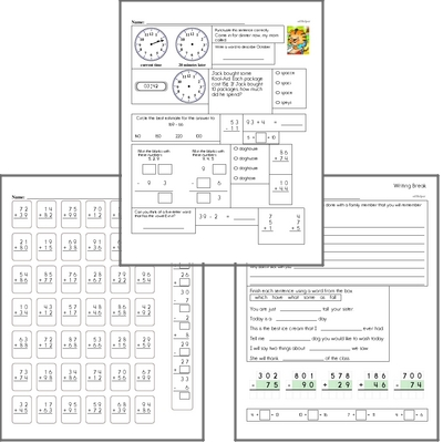 Free L.3.3.B Practice Workbook<BR>Multiple pages of practice for L.3.3.B skills.<BR>Includes third grade language arts, math, and puzzles.