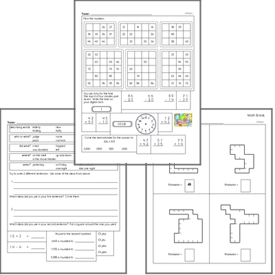 Free L.3.4.B Practice Workbook<BR>Multiple pages of practice for L.3.4.B skills.<BR>Includes third grade language arts, math, and puzzles.