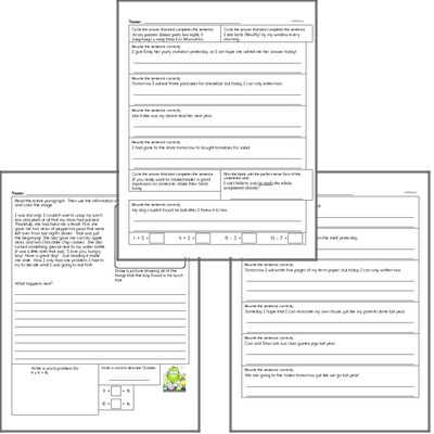 Free L.5.1.D Practice Workbook<BR>Multiple pages of practice for L.5.1.D skills.<BR>Includes fifth grade language arts, math, and puzzles.