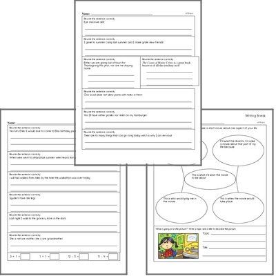 Free L.5.2 Practice Workbook<BR>Multiple pages of practice for L.5.2 skills.<BR>Includes fifth grade language arts, math, and puzzles.