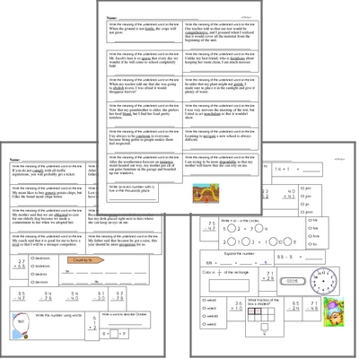 Free L.5.4.A Practice Workbook<BR>Multiple pages of practice for L.5.4.A skills.<BR>Includes fifth grade language arts, math, and puzzles.