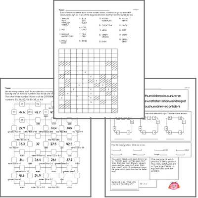 March Fun Packets