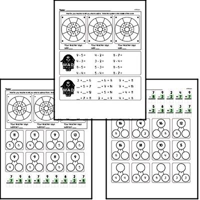 1st grade Mad Minute Timed Math Drill Worksheets