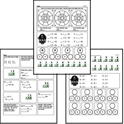 2nd grade Mad Minute Timed Math Drill Worksheets