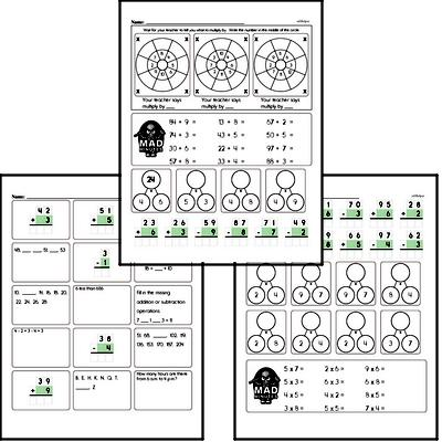 3rd grade Mad Minute Timed Math Drill Worksheets