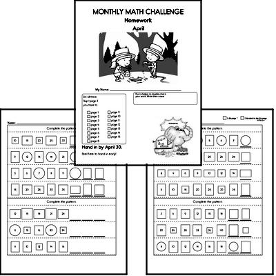 April Gifted Math Challenge Workbook for Kids