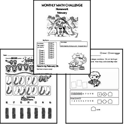 February Gifted Math Challenge Workbook for Kids