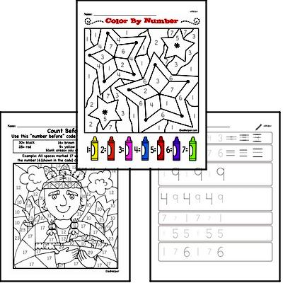 Kindergarten Math Warmup Pages for February