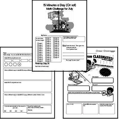 July Math Workbook