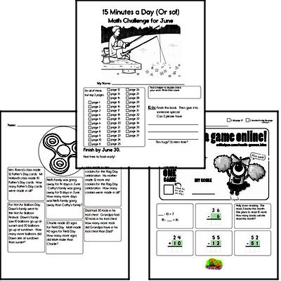 2nd grade Monthly Math Challenge Book