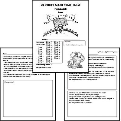 May Gifted Math Challenge Workbook for Kids