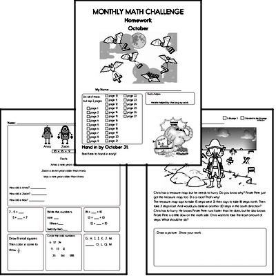 October Gifted Math Challenge Workbook for Kids