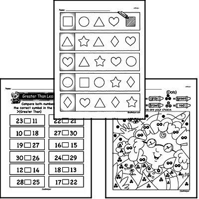 Kindergarten Math Warmup Pages for September