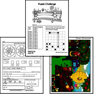 Third Grade Puzzles for Kids